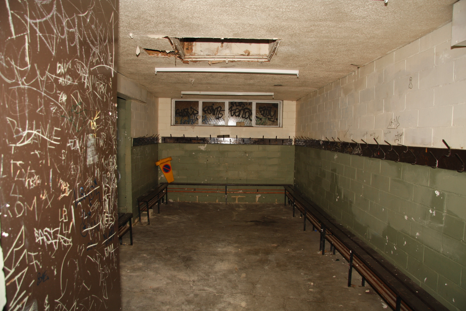The changing rooms of North Sheen's old changing block